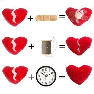 Yup! A broken heart needs time to heal.