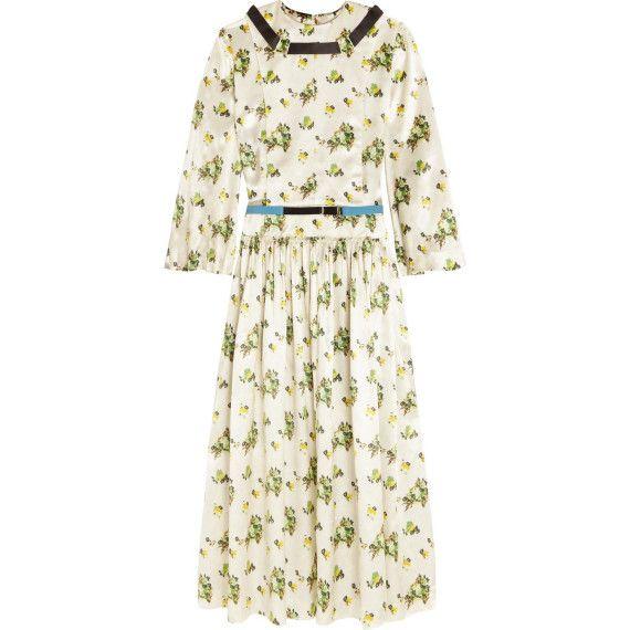 Toga Archives Floral-Print Satin Dress