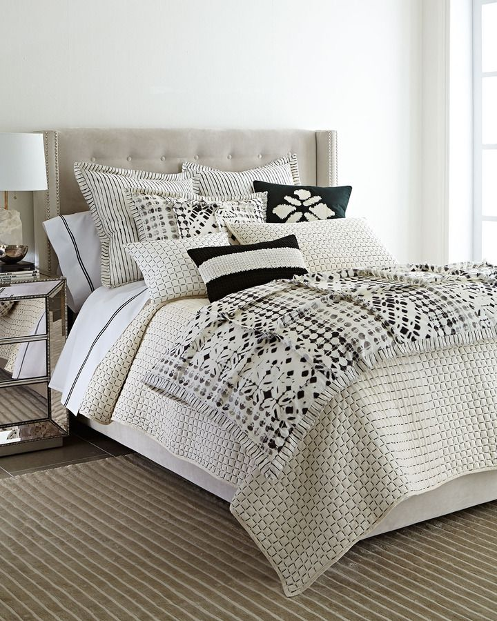 Black and White Bedding Pure Simple Modern