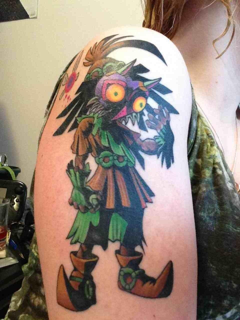 Majoras mask tattoo zelda pinterest tattoo