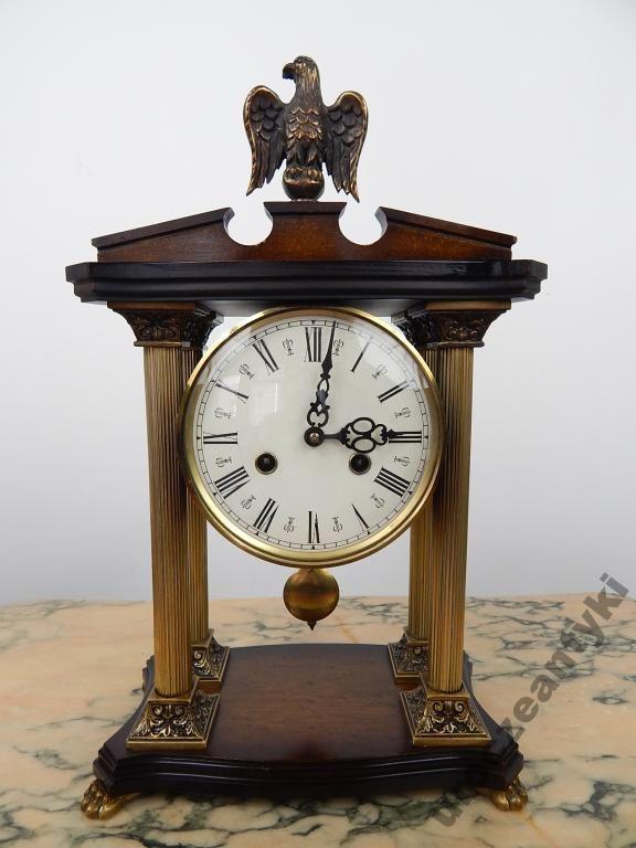 Piekny Stary Niemiecki Drewniany Zegar Kominkowy 5173817345 Oficjalne Archiwum Allegro Clock Mantel Clock Mantel