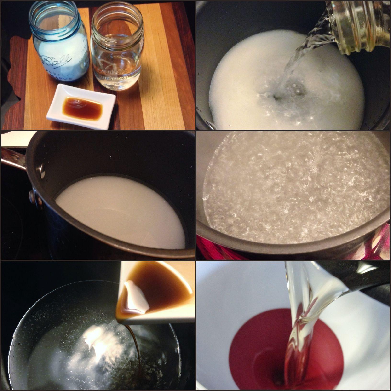 Homemade Vanilla Coffee Syrup #homemade #vanillasyrup