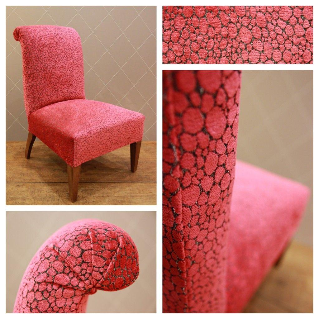 Chauffeuse inspiration fuchsia tapisserie fauteuil Chauffeuse confortable