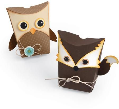Sizzix Thinlits Dies - Owl and Fox Box. Thinlits create dazzling detailed shapes for more creative cardmaking and papercrafting projects. These wafer-thin chemi