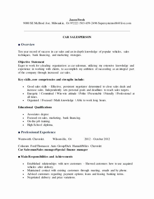 New Auto Sales Resume Mkmafo In 2020 Sales Resume Examples Resume Examples Sales Resume