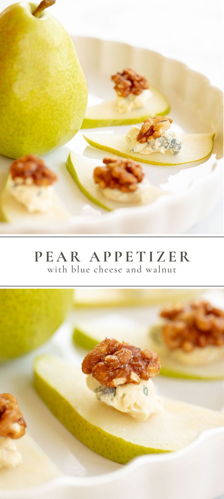 Easy Pear Appetizer A Healthy Holiday Appetizer | Julie Blanner