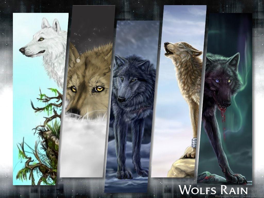 Wolfs Rain Created By Poppy Rain Wallpapers Wolf S Rain Anime Wolf