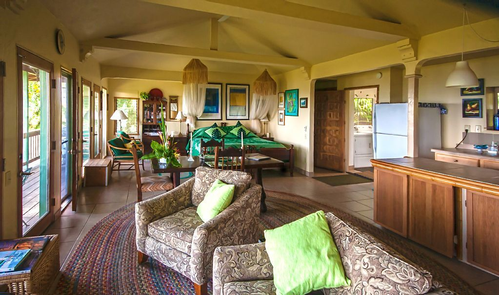 Great open floor plan for small tropical