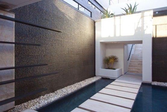 Cascata Da Giardino Moderna : Parete cascata d acqua per interni ed esterni casa idee consigli