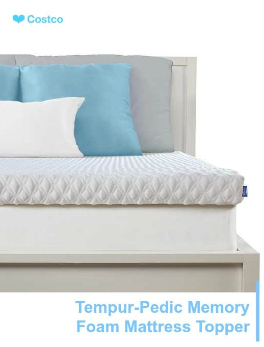 Serenity By Tempur Pedic Memory Foam Mattress Topper Pillow Top
