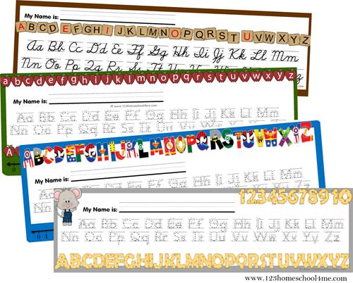 free alphabet desk chart school ideas homeschool alphabet rh pinterest com