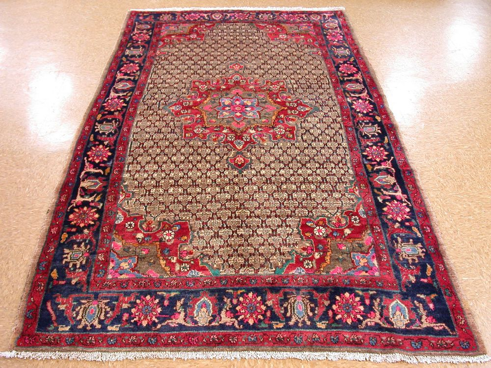 5x10 Persian KURDISH Tribal Hand Knotted Wool Traditional Red Blue Oriental  Rug | EBay