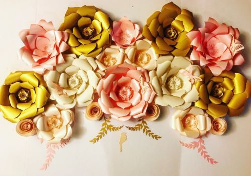 Swags and Garlands 28130: Paper Flower Wall Decor Custom Colors ...