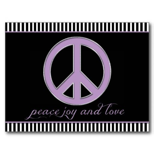 PurplePeace Sign Black White Stripes Save The Date