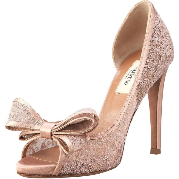 cheap best seller Valentino Lace d'Orsay Bow Pumps 100% guaranteed cheap online manchester great sale cheap online countdown package cheap price best sale for sale mFGfu