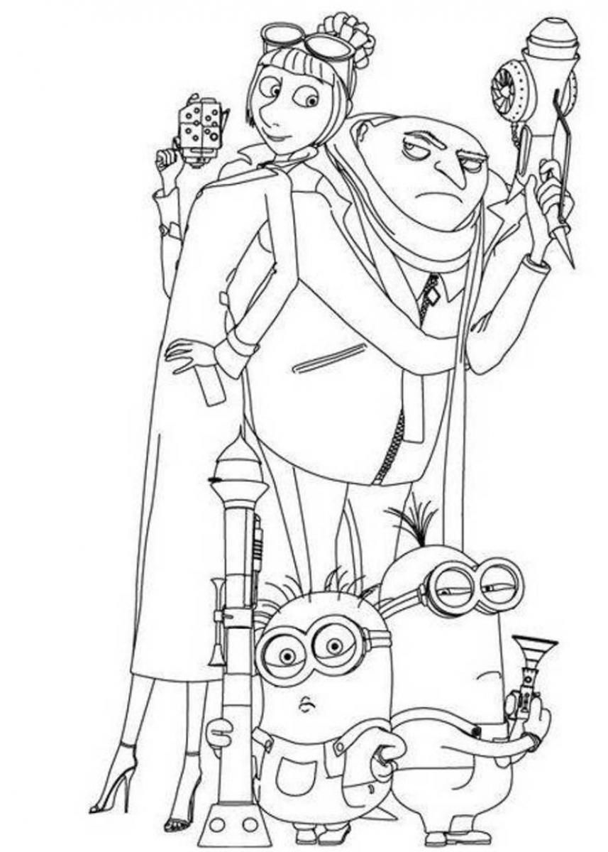 Printable coloring pages minions - Printable Minions Coloring Pages