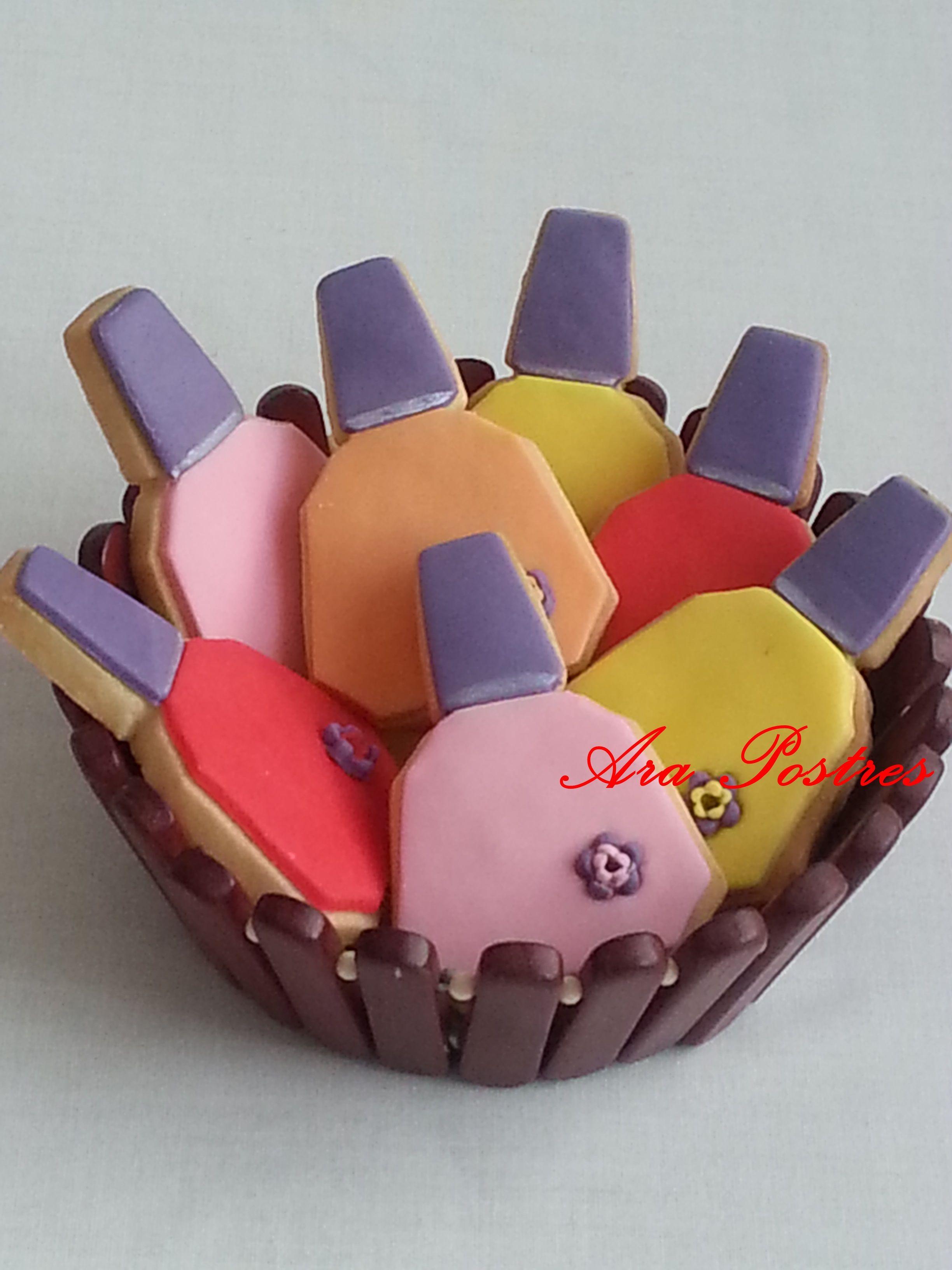 Galleta sesmalte de uñas #arapostres #galletasfondant