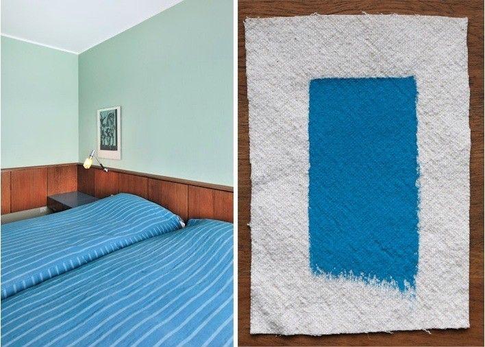 arne jacobsens sas royal hotel in copenhagen matched with pratt lambert vivid blue remodelista