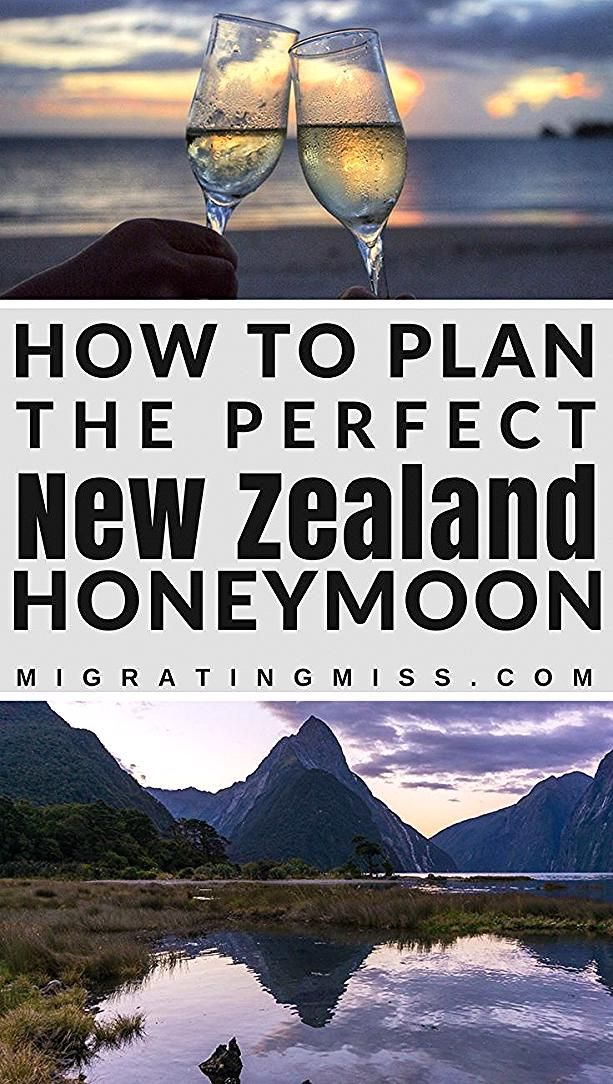 New Zealand Honeymoon Destionations - How to plan your New Zealand honeymoon the best destinations places to stay and things to do! #newzealand #honeymoon #oceaniadestinations #oceania #destinations