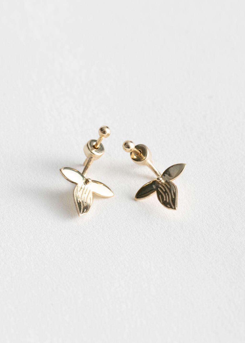 75320b253 Front Back Leaf Earrings   to wear / accessories   Earrings, Leaf ...