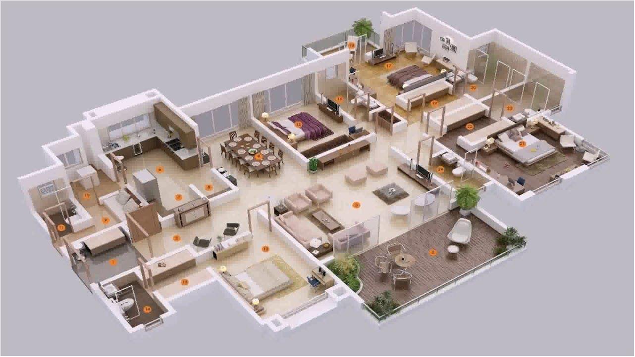 Incredible 5 Bedroom House Plans Zimbabwe 5 Bedroom House Plans In Ghana Planta 3d De Casa Plantas De Casas Layout De Apartamento