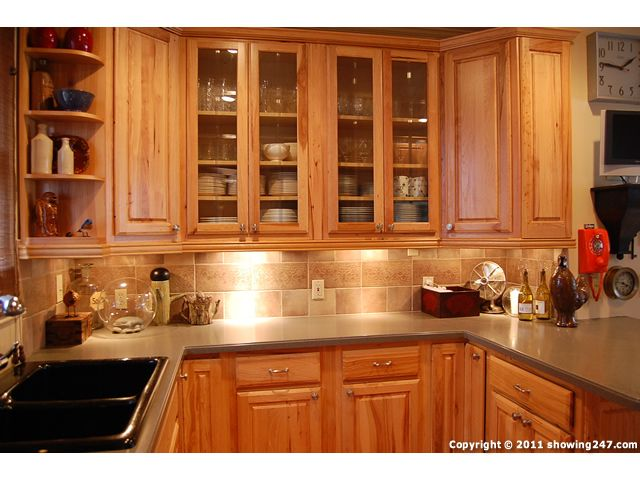 Oak Kitchen Cabinet Glass Doors Grant Park Homes For