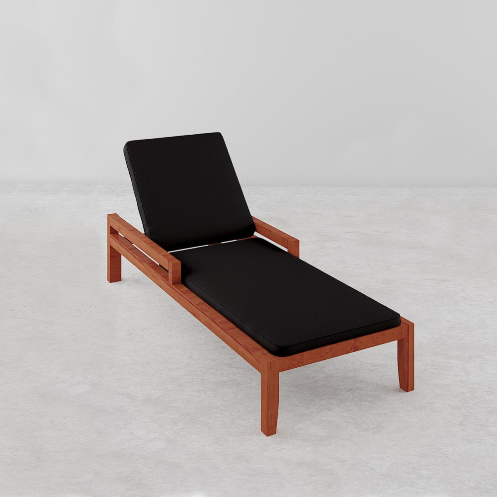 luxo martinique timber outdoor sunbed with black cushion in 2019 rh pinterest com