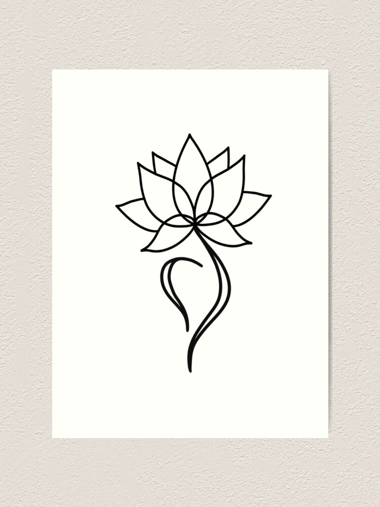'NEDA Symbol Lotus Flower' Art Print by Margo Shemaria