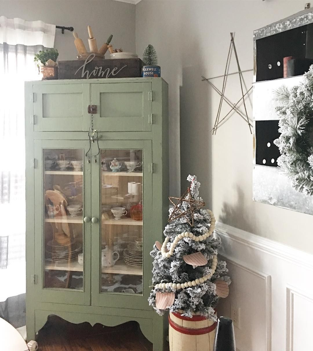 Holiday Decorating Farmhouse Style Cozy Christmas Cupboards