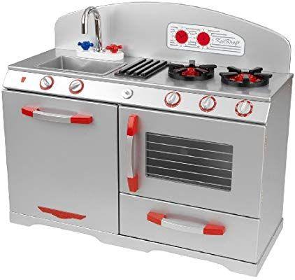 amazon com kidkraft 53170 sliver retro kitchen toys games rh pinterest com