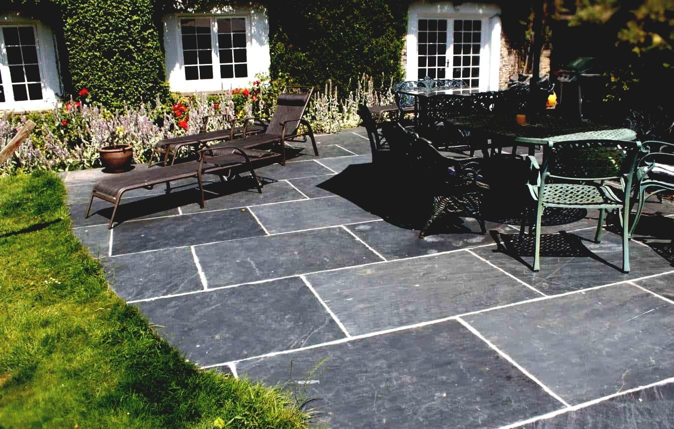Backyard Patio Flooring Ideas Cheap Patio Floor Ideas Tile Top Patio In 12 Some Of The Coolest Initiatives Of How To Upg Slate Patio Patio Tiles Patio Flooring