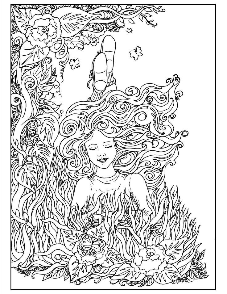 Art Nouveau Coloring Pages | Pinterest | Adult coloring and Free ...