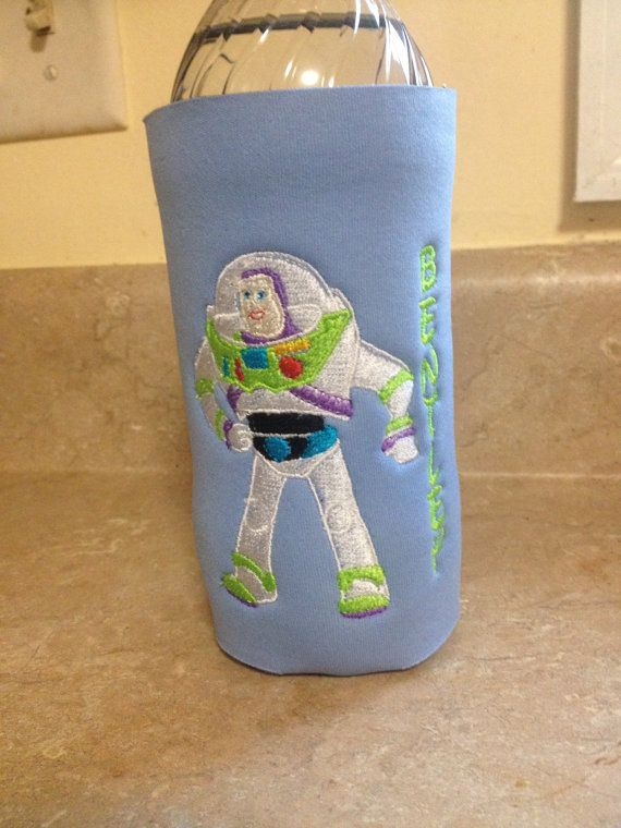 Buzz Lightyear personalized embroidered Koozies perfect for Toy Story  Birthday and Disney Trips (tall water