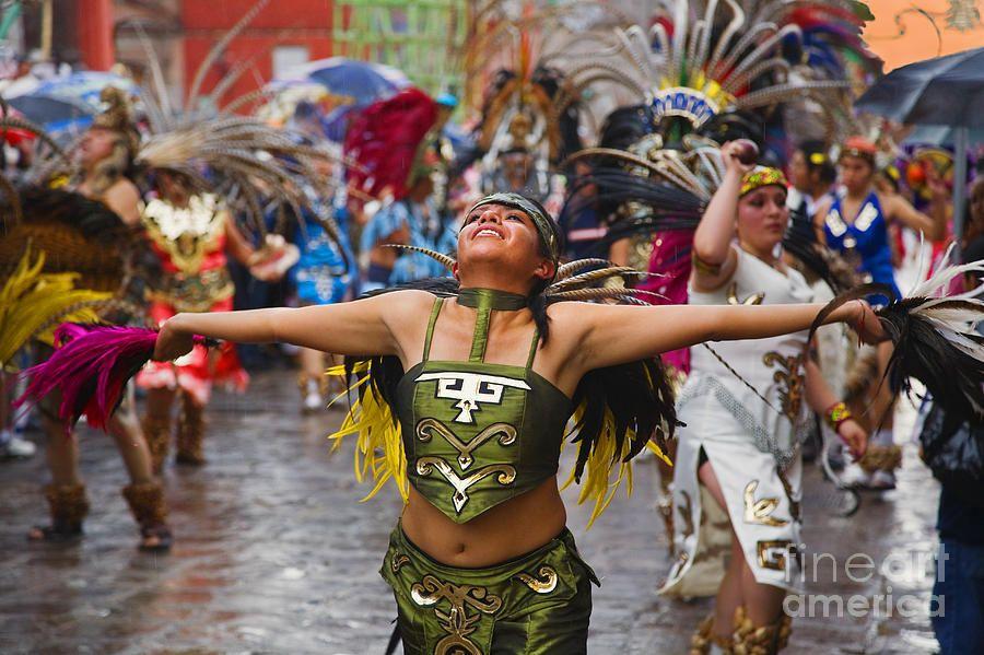 Aztec Dancer - San Miguel De Allende Photograph  - Aztec Dancer - San Miguel De Allende Fine Art Print