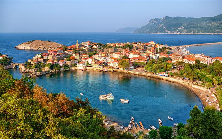 Lataa kuva Amasra, Satama, Musta Meri, Turkki, kesällä, Turkin kaupungeissa, resort
