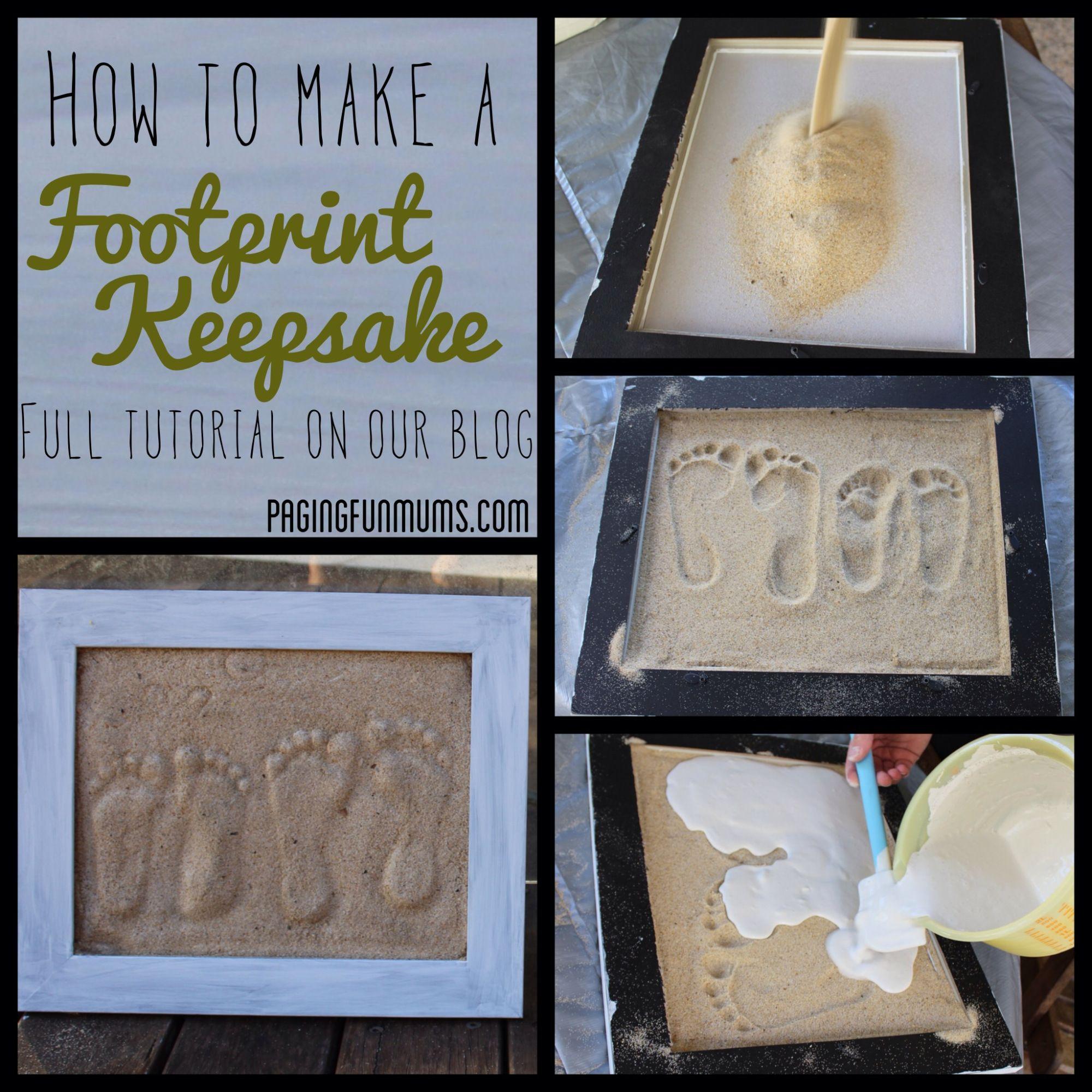 Sand Footprint Craft Full Diy Instructions Crafts Pinterest