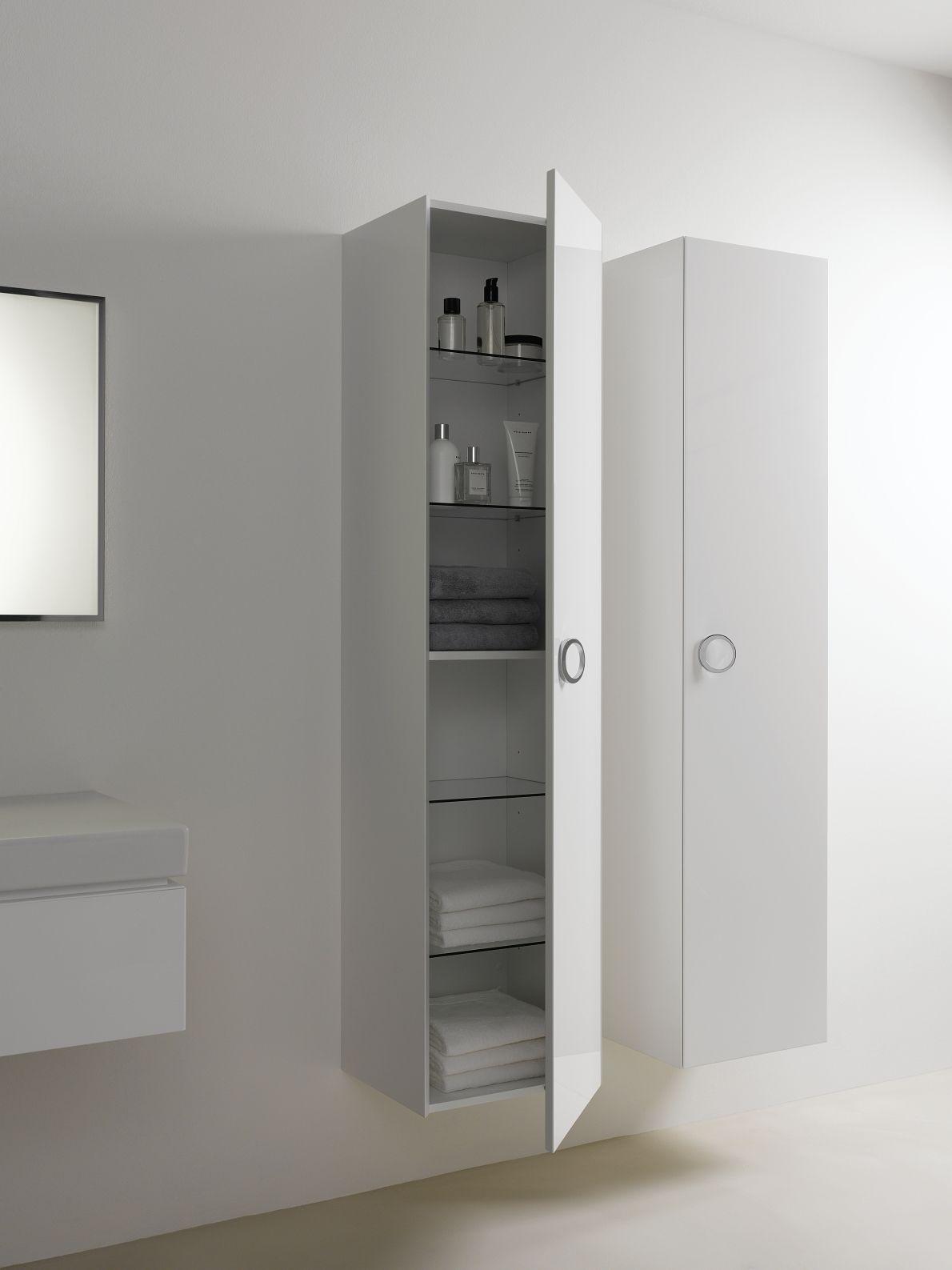 Hoge kast voor badkamer uit de Preciosa II collectie ▻ [http://www ...