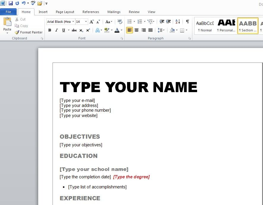 Resume Templates Microsoft Word Best Resume Format 2015 How To Make Resume Resume Microsoft Word Microsoft Word Resume Template