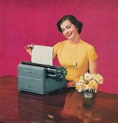 ¡Terminar un documento hecho a máquina, sin errores, era un hit!