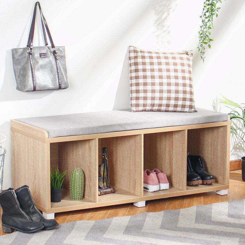 Bebe upholstered cubby storage bench cubby storage bench