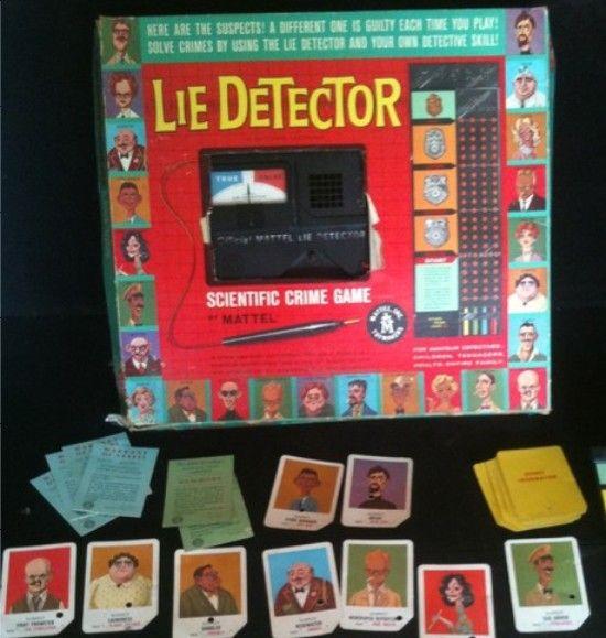 Mattel 1960 Lie Detector Scientific Crime Game Vintage Games