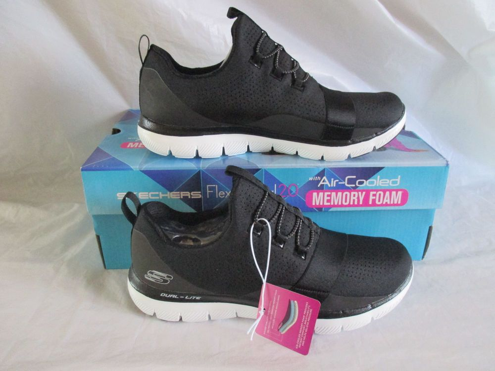 New Skechers Memory Foam Women S Color Black White 12901 Bkw You