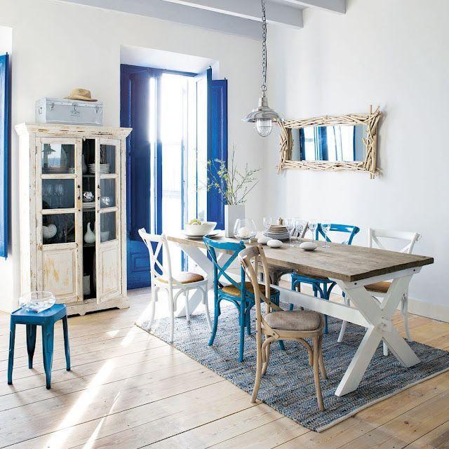 Fresh nautical style dining room decor Coastal Decorating Ideas