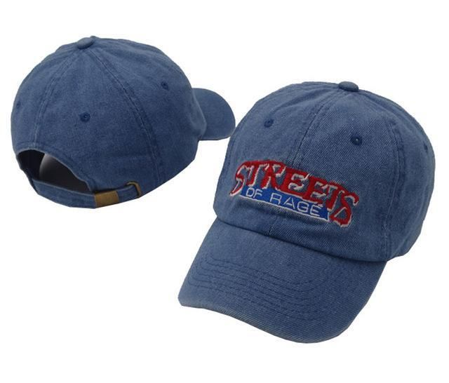 Classic Fighting Game Streets Of Rage Hat Game Lovers Baseball Cap Denim  and Black Dad Hats 2006eee081a1