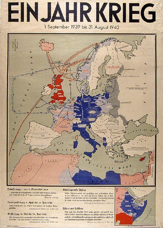 Alte Karte Deutschland 1940.Ein Jahr Krieg 1940 Was Gab S Und Wo Historische Karten Karten