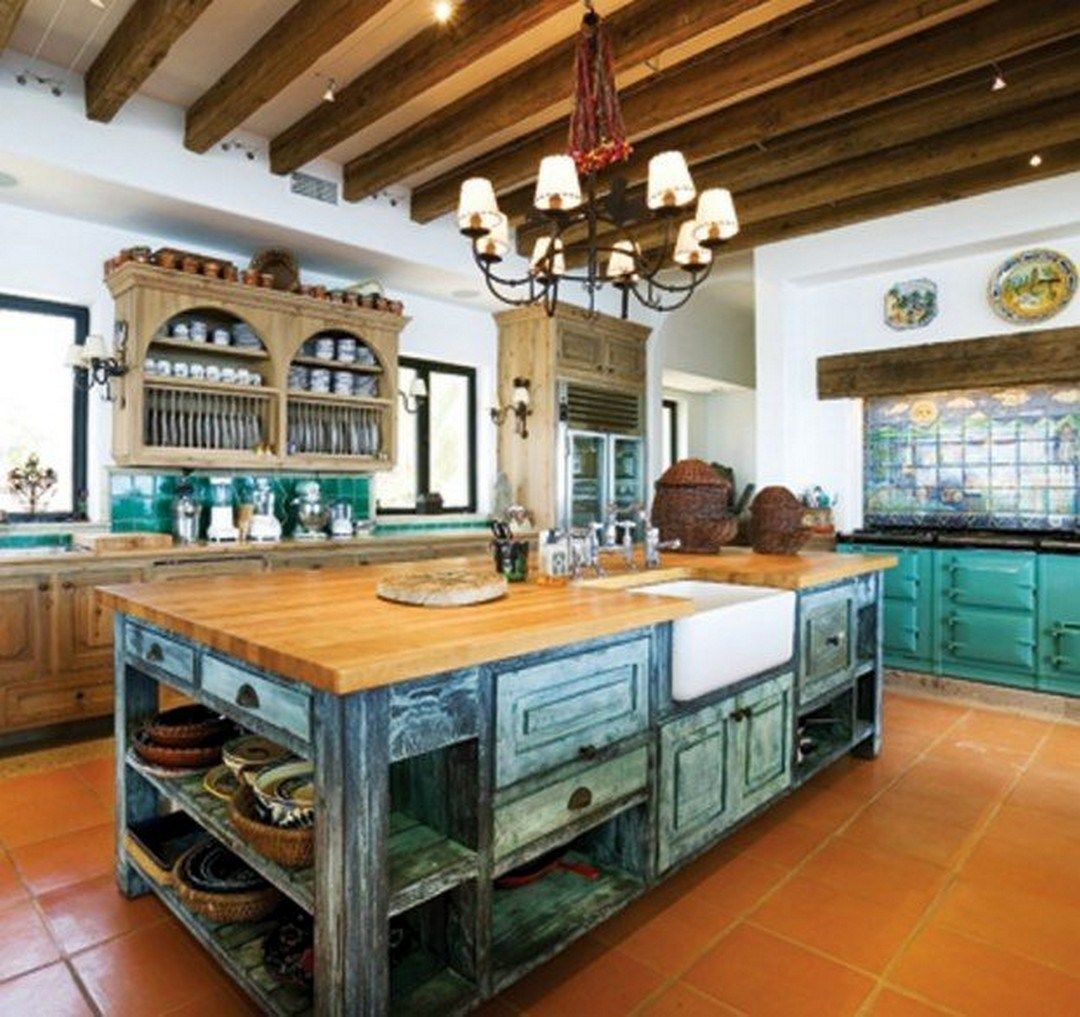 Colorful Kitchen Decorating Mexican Style Kitchendecorpad Spanish Style Kitchen Mexican Style Kitchens Mexican Kitchen Decor