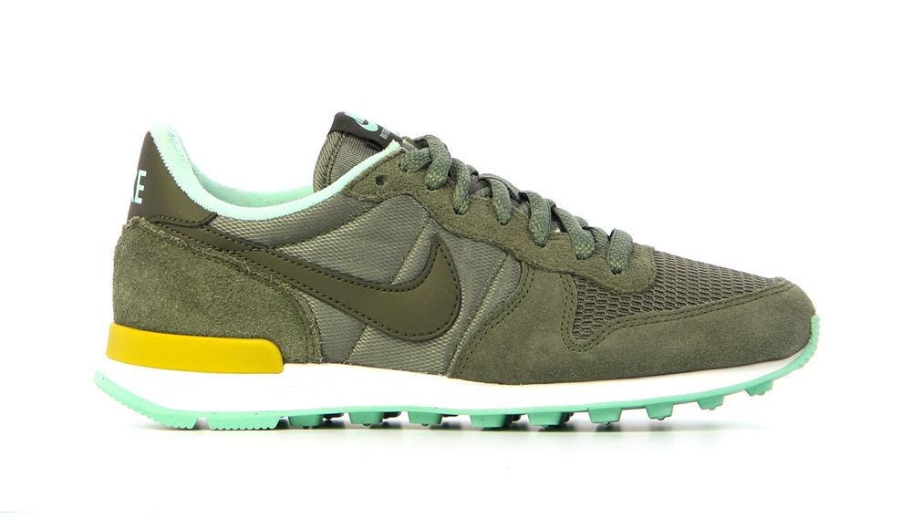 nike internationalist groen zwart