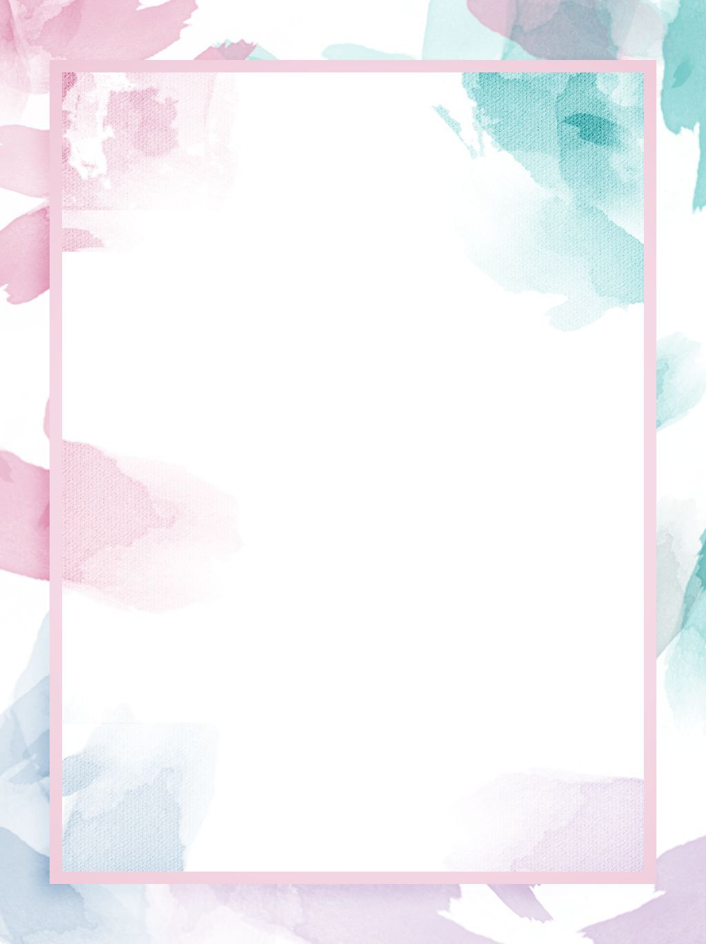 Full Irregular Watercolor Splash Ink Light Color Background