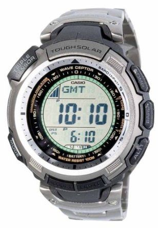 Casio Mens Paw1300t 7v Pathfinder Multi Band Solar Atomic Silver Watch Casio Watch Casio Protrek Casio