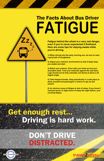 Fatigue Driving Safety Posters Safety Quotes Road Safety Tips